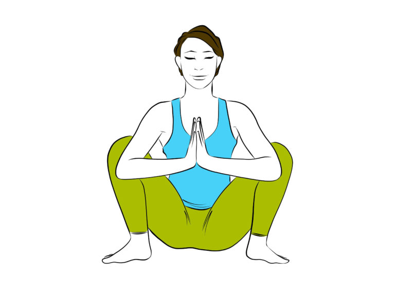 Squat Pose Front View Align Yoga